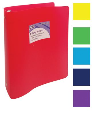 48 units of binder 1 inch 3 ring assorted colors clipboards and