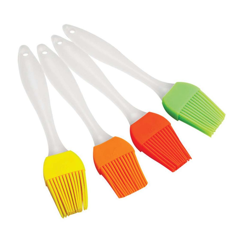 48 Units of SILICONE BASTING BRUSH 9 IN IN DISPLAY ASSORTED COLORS -  Kitchen Utensils