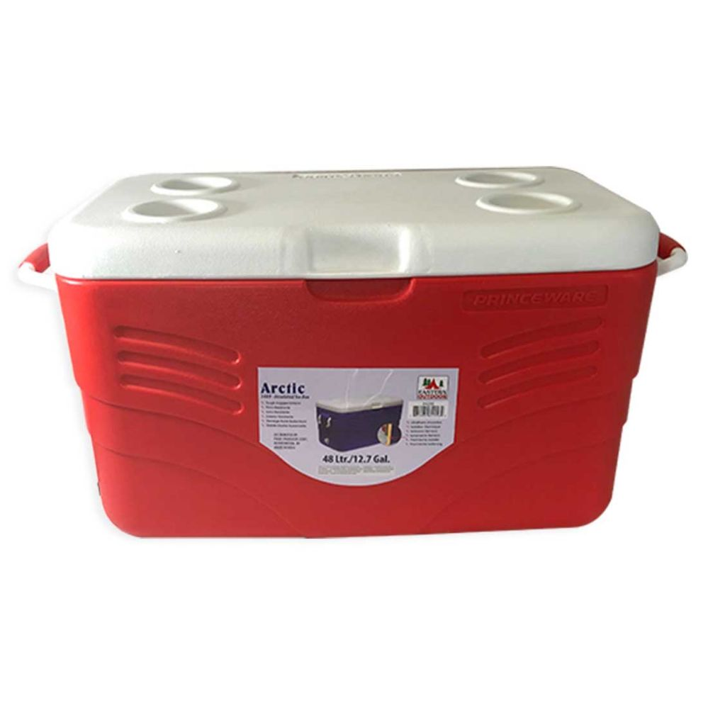 INSULATED COOLER 12.7 GALLONS WITH HANDLES - Camping Accessories