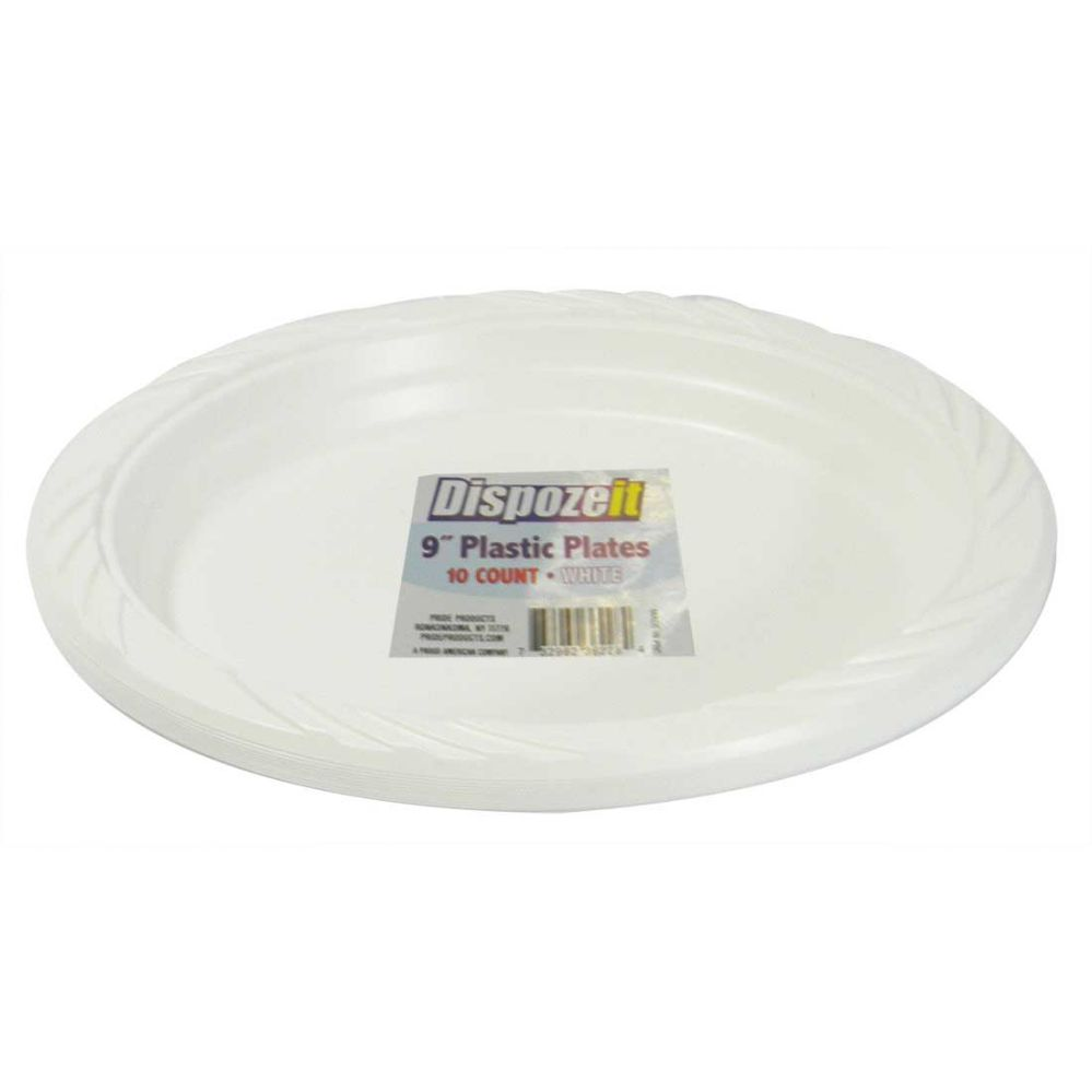 36 Units of PLASTIC PLATE 10 CT 9 WHITE - Disposable Plates & Bowls ...