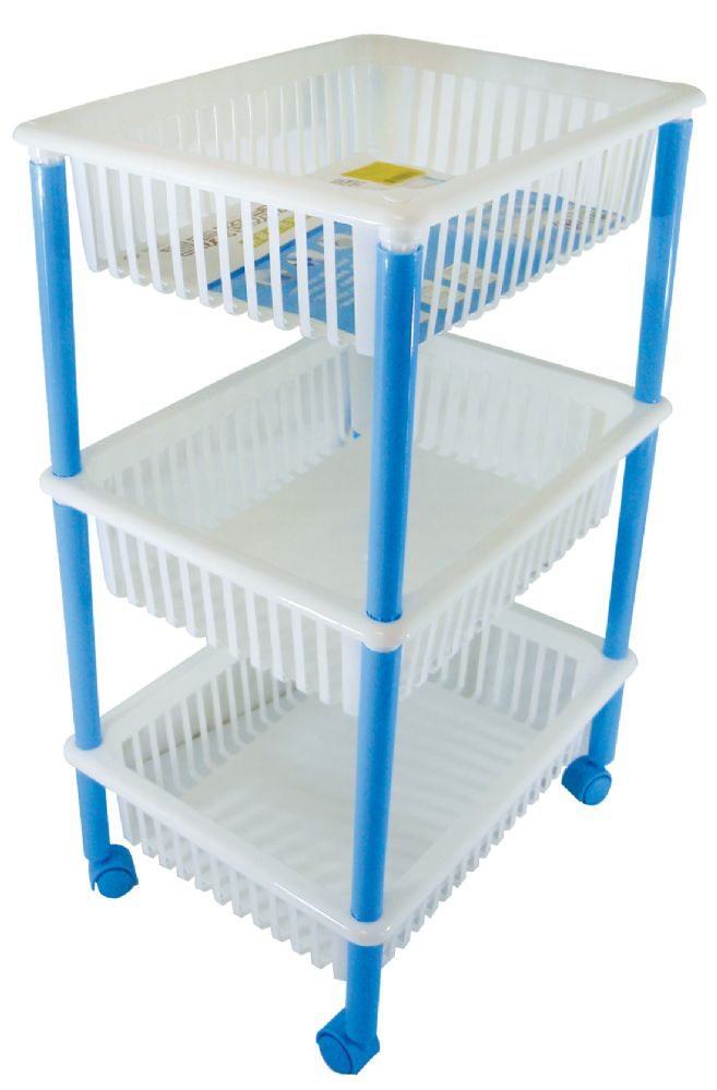 3 Units of 3 TIER MOBILE CART 16LX12WX25H INCHES