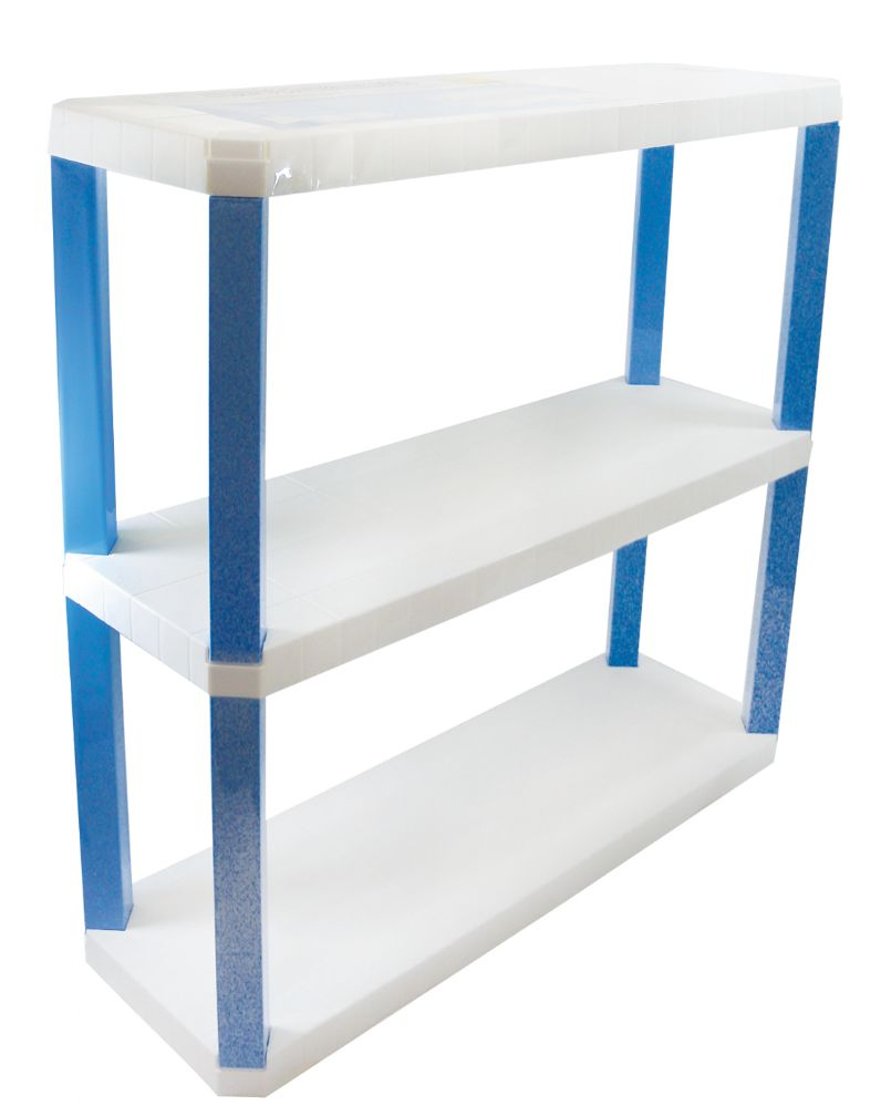 3 Units of STORAGE UNIT 3 SHELVES PLASTIC 30.50X10X30 INCHES - Home Goods