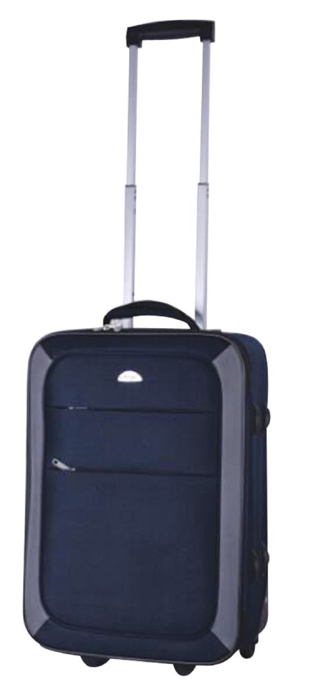 2 Units of PRIDE SOFT LUGGAGE 20 INCH 2 WHEELS NAVY WITH GREY - Home Goods