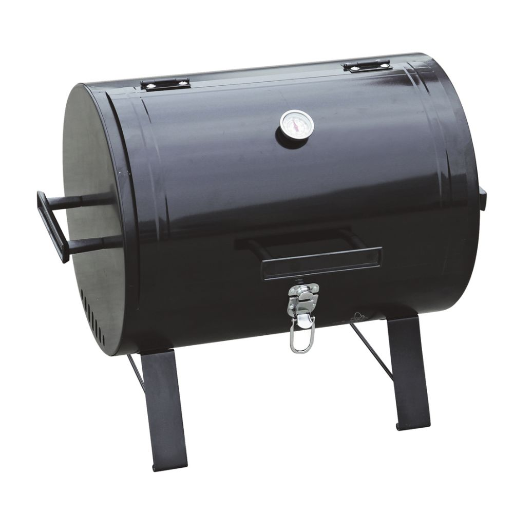 CHARCOAL BARREL BBQ GRILL 175 SQ INCH WITH THERMOSTAT