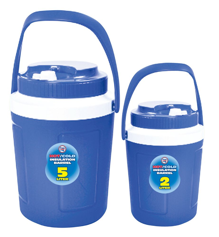 6 Units of HOT/COLD INSULATED 2 PC JUG SET 5 LITER AND 2 LITER ASSORTED COLORS