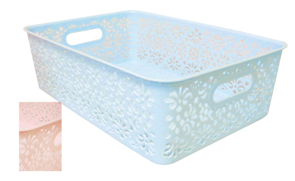 36 Units of STORAGE BOX 14 X 9 X 4 INCHES ASSORTED COLORS - Home Goods