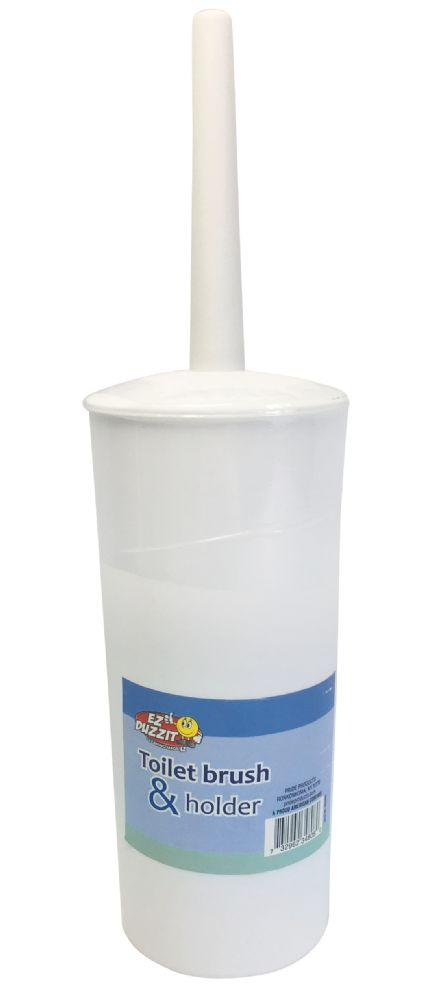 12 Units of TOILET BRUSH + HOLDER 13.5 INCH WHITE