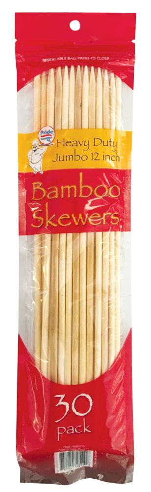 48 Units of PRIDE SKEWERS 12 INCH 30 PACK BAMBOO