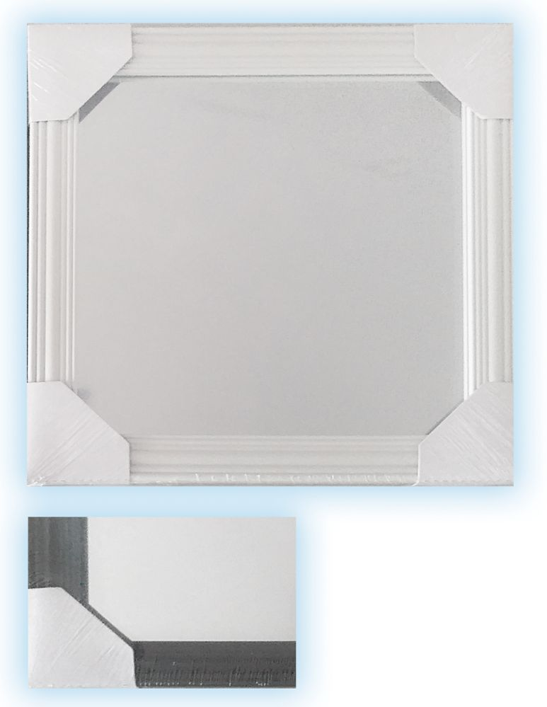 24 Units of FRAMED MIRROR 10 X 10 INCHES ASSORTED BLACKANDWHITE - Home Goods