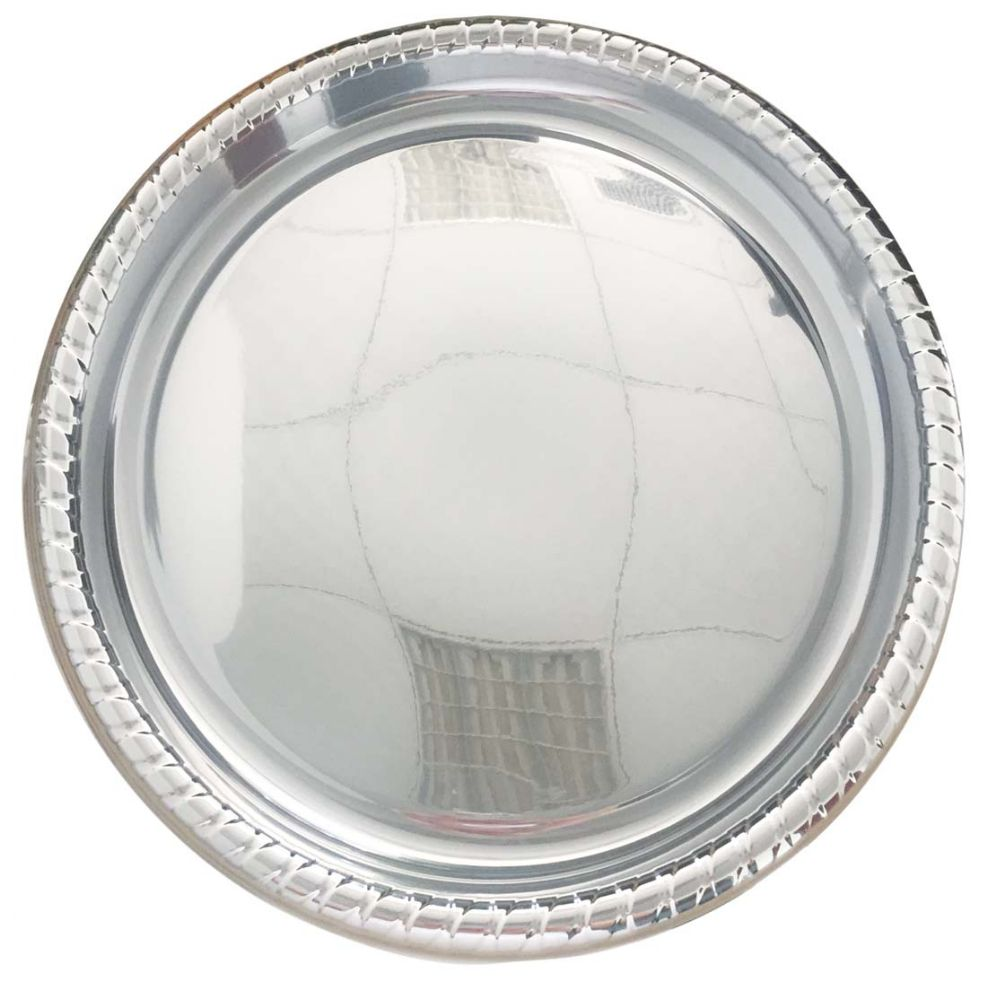 24 Units Of Round Serving Tray 16 Silver Platters