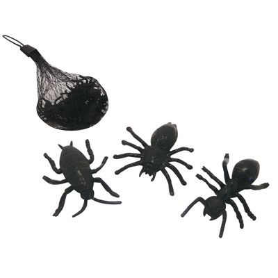 48 Units of HALLOWEEN MINI SPIDER DECORATION 12 PACK PREPRICED $0.97