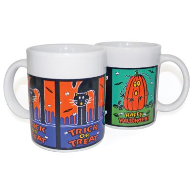 12 Units of HALLOWEEN MUGS CERAMIC 10.5 OZ ASSORTED DESIGNS