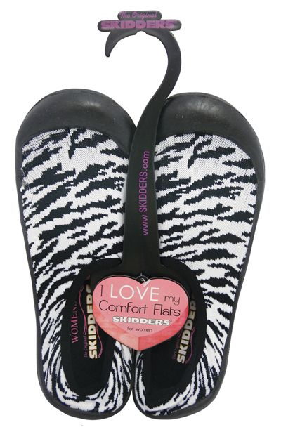30 Units of SKIDDERS LADIES ZEBRA COMFORT SLIPPERS/WATER SHOES HEAVY DUTY ASST. SIZES PRE-PRICED $24.99