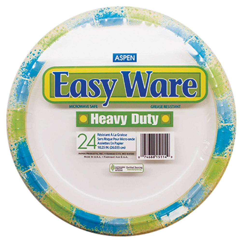 12 Units of EASY WARE PRINT DESIGN 10.25 24CT HEAVY DUTY PAPER PLATE MICROWAVE SAFEGREASE RESISTANT  sc 1 st  Alltimetrading & 12 Units of EASY WARE PRINT DESIGN 10.25 24CT HEAVY DUTY PAPER PLATE ...