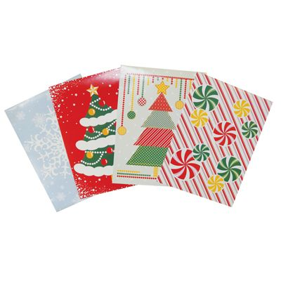48 Units of CHRISTMAS GIFT BOX 4 PACK 11 X 8 X 1.5 INCH SMALL
