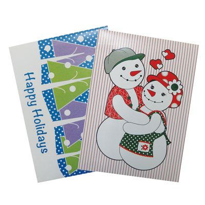 48 Units of CHRISTMAS GIFT BOX 2 PK 17.25 X 11 X 2.75 INCH LARGE ASSORTED DESIGNS