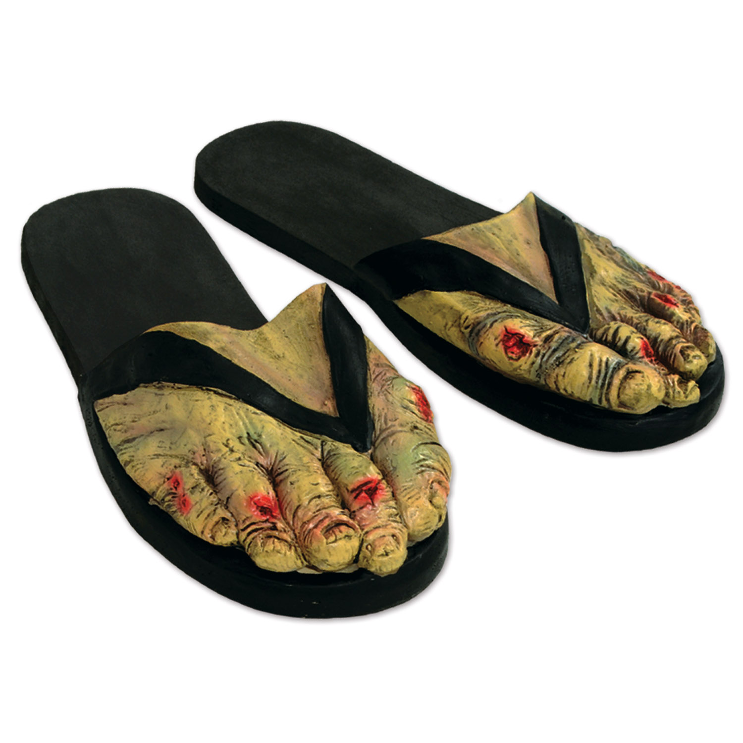 6 Units of Zombie Feet Slippers one size fits most