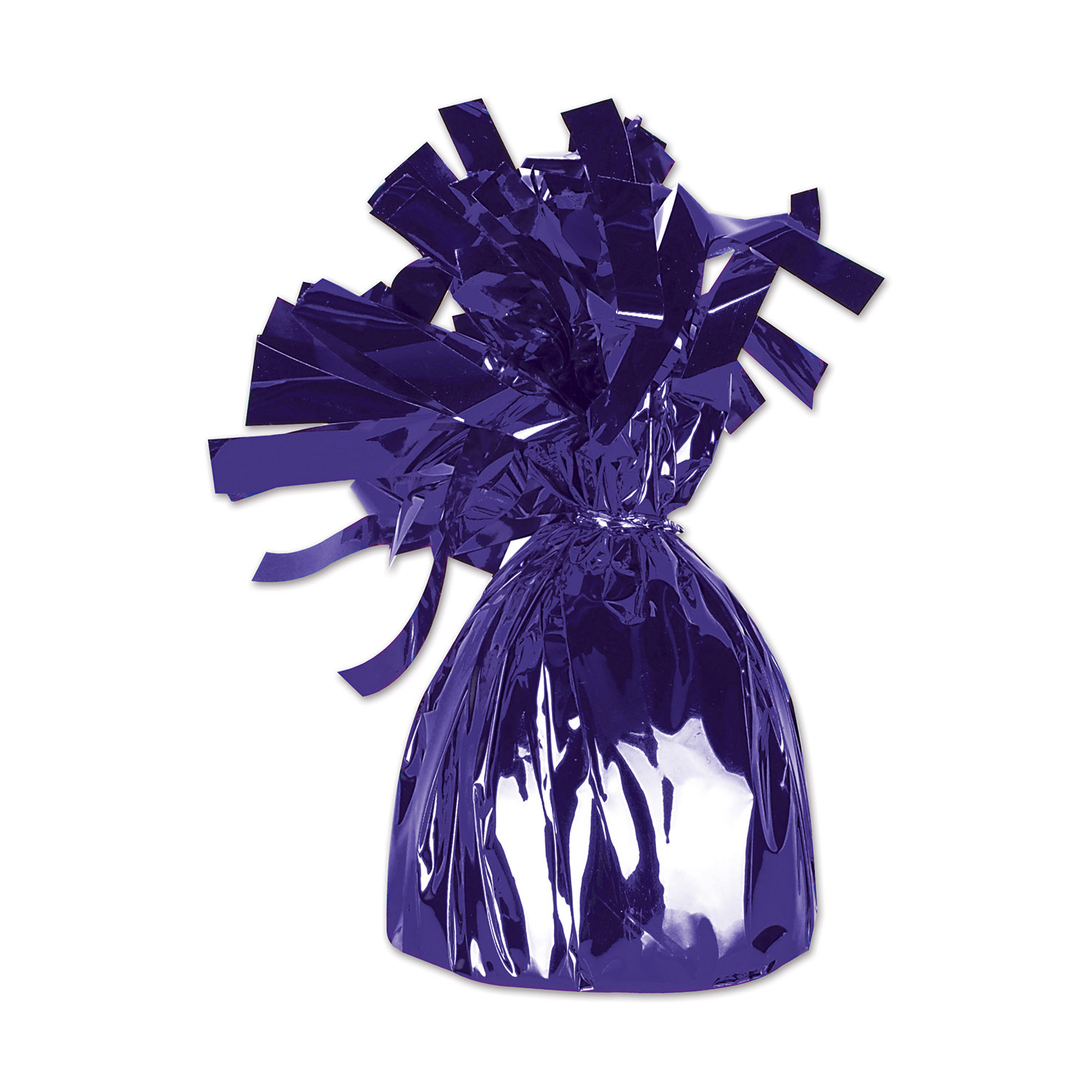 12 Units of Metallic Wrapped Balloon Weight purple