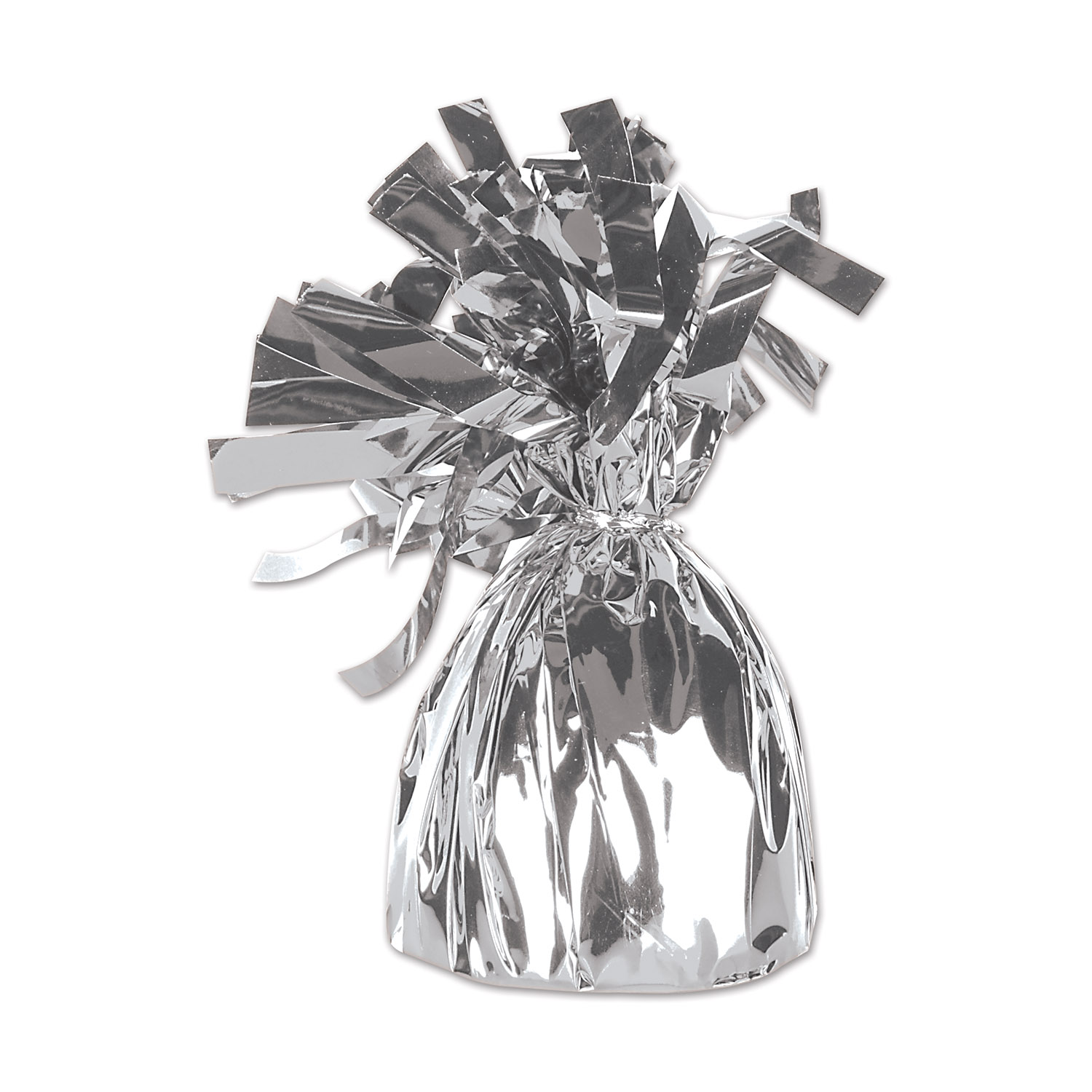 12 Units of Metallic Wrapped Balloon Weight silver