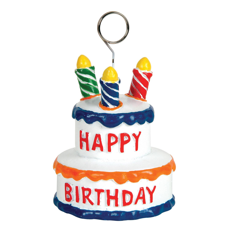 6 Units of Birthday Cake Photo/Balloon Holder - Balloons/Balloon Holder