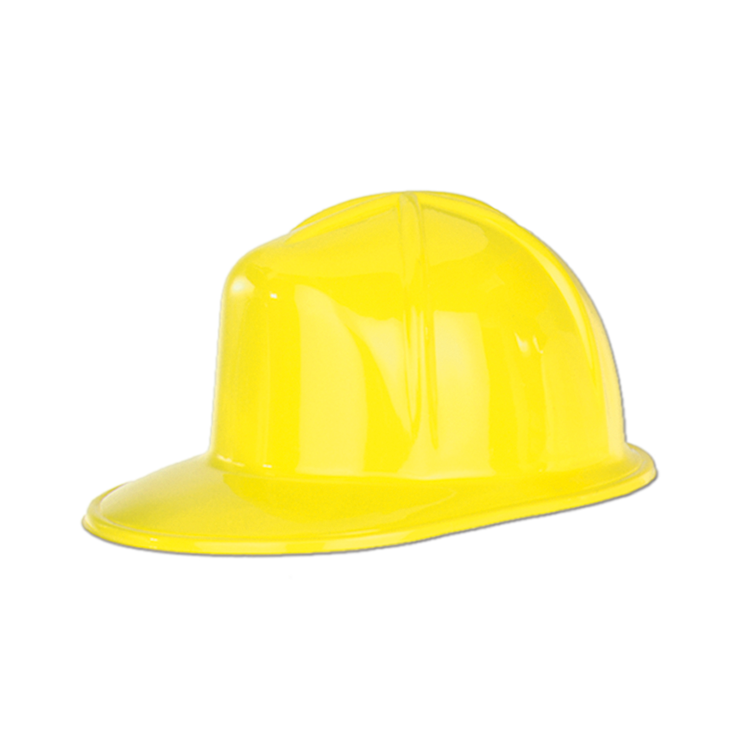48 Units of Yellow Plastic Construction Helmet one size fits most - Party Hats & Tiara