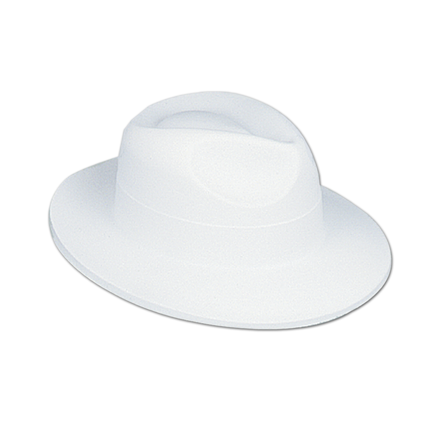 a143b7da59e 24 Units of White Velour Fedora plastic-backed velour  one size fits most - Party  Hats   Tiara - at - alltimetrading.com