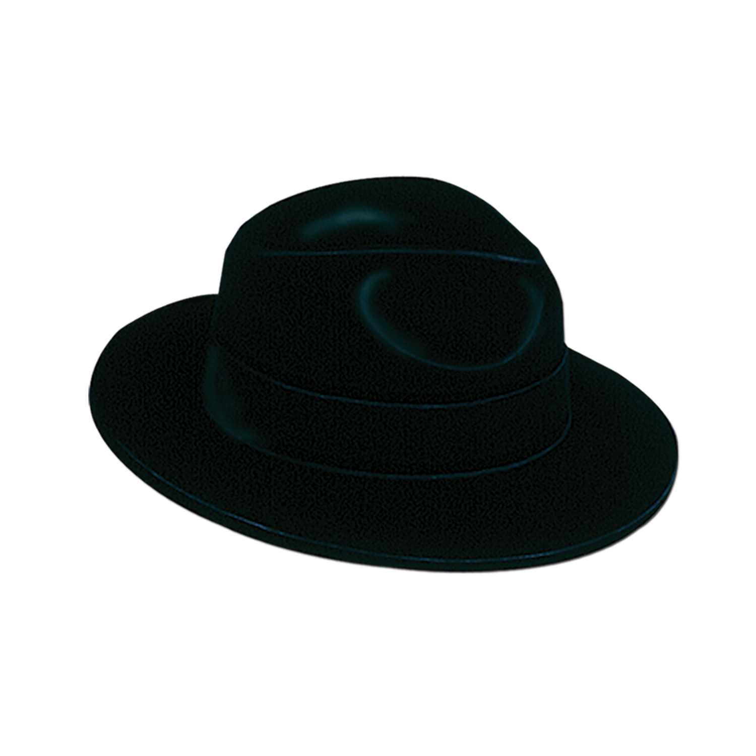 1d9a728e30d 24 Units of Black Velour Fedora plastic-backed velour  one size fits most - Party  Hats   Tiara - at - alltimetrading.com