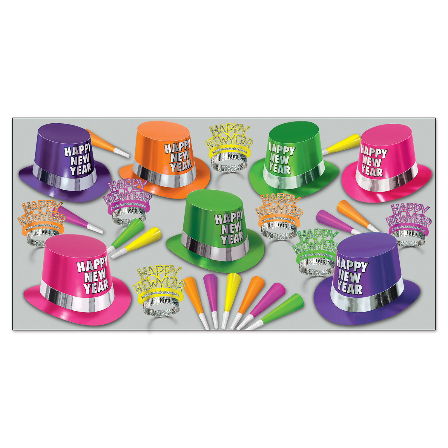Fluorescent Asst for 50 - Party Accessory Sets