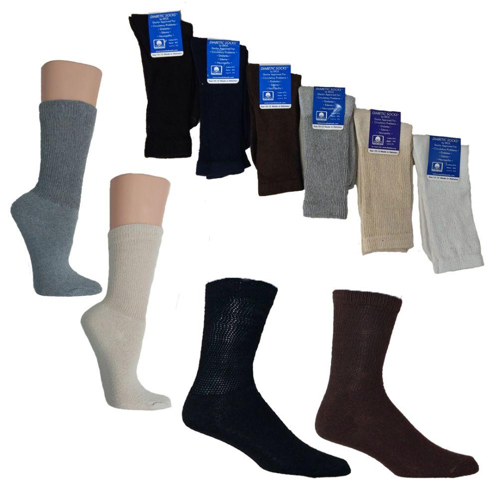 Knitting Pattern For Diabetic Socks : 36 Units of Knit Crew Diabetic Socks - Custom Assortment ...