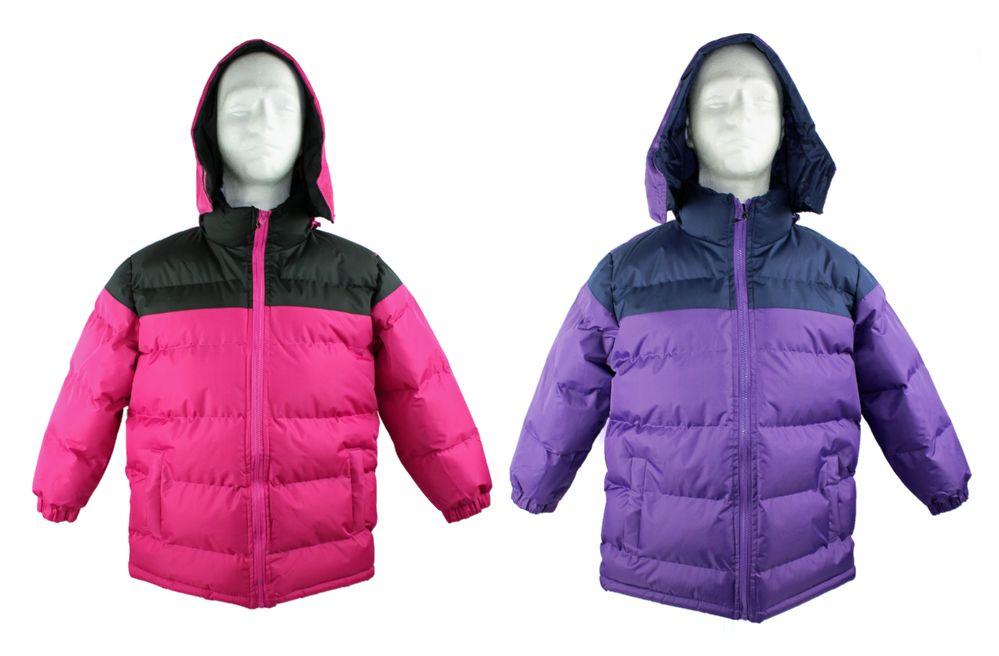 5ee8debe43a3 12 Units of Kid s Winter Bubble Ski Jackets w  Detachable Hood ...