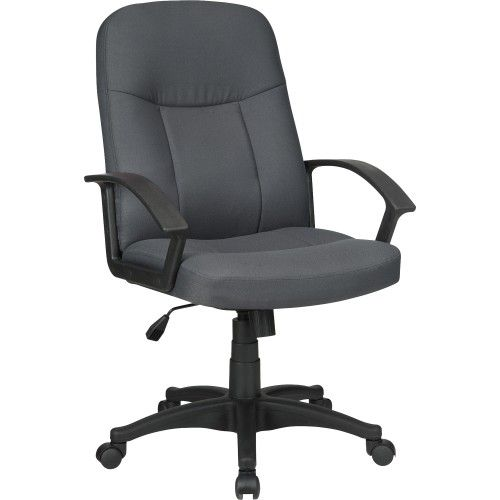 Lorell Executive Fabric Mid Back Chair   Office Chairs