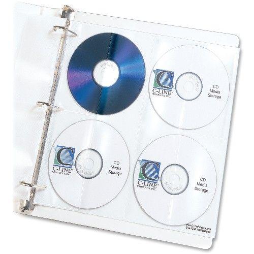 70 Units Of C Line Deluxe CD Ring Binder Storage   Binders