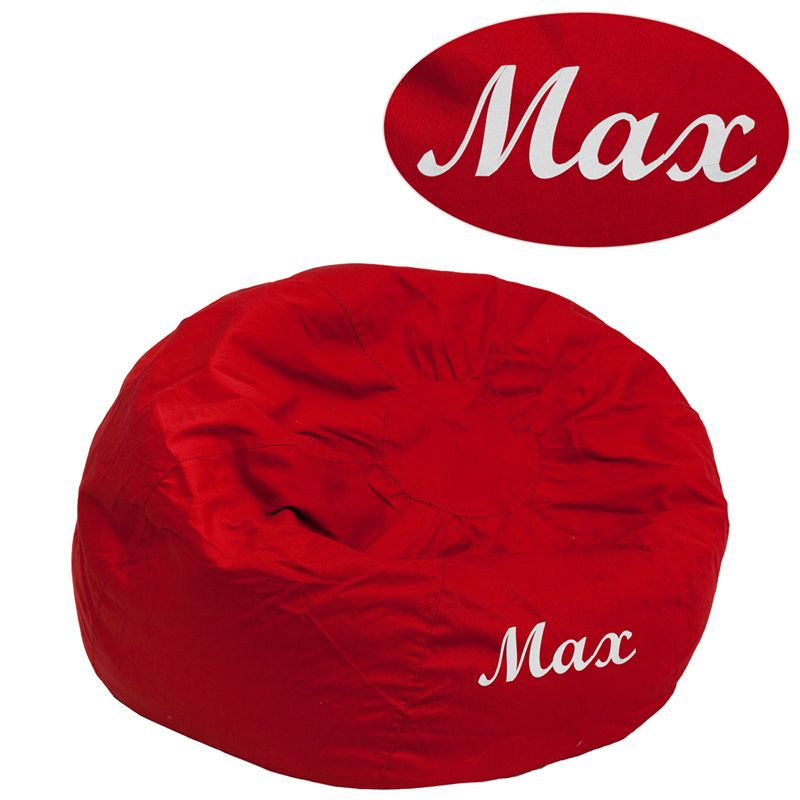 Fantastic Personalized Small Solid Red Kids Bean Bag Chair Soft Seating Squirreltailoven Fun Painted Chair Ideas Images Squirreltailovenorg