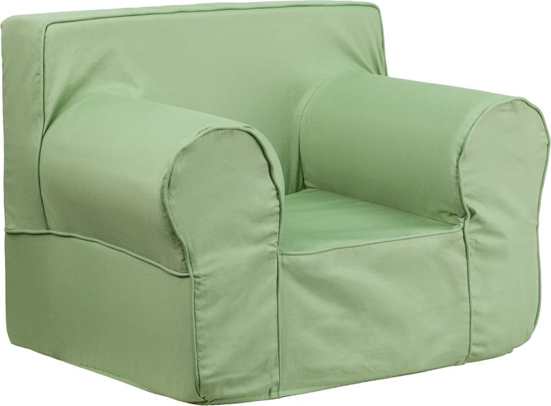 Fabulous Oversized Solid Green Kids Chair Soft Seating Andrewgaddart Wooden Chair Designs For Living Room Andrewgaddartcom