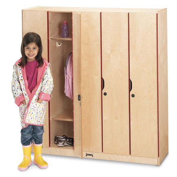 Jonti Craft 5 Section Lockers With Doors Cubbies At Alltimetrading