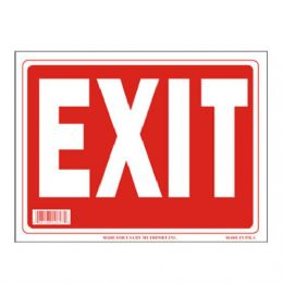 96 Units of Sign 9in x 12in Exit - Signs & Flags