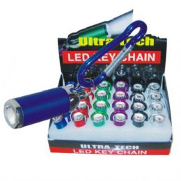 120 Units of LED Flashlight Keychain - Signs & Flags