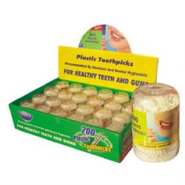200 Units of Toothpick Plastic Counter Display 200pc - Toothpicks