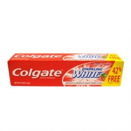 48 Units of Colgate TP 4oz Sparkling White Cinnamon - Toothbrushes and Toothpaste
