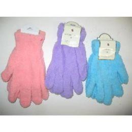 144 Units of Ladies Fuzzy Gloves - Fuzzy Gloves