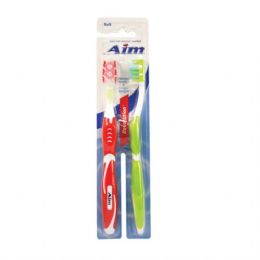 24 Units of Aim Toothbrush Travel 2pk - Toothbrushes and Toothpaste