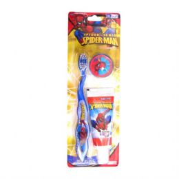48 Units of Sprider man travel kit - Toothbrushes and Toothpaste