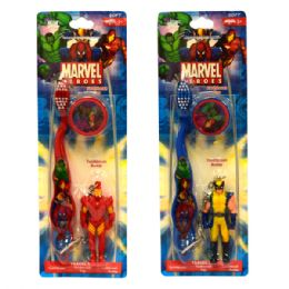 48 Units of Marvel Heroes Toothbrush Travel Kit - Toothbrushes and Toothpaste