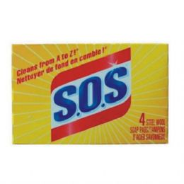 24 Units of SOS Soap Pads 4pk - Cleaning Products