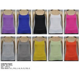 144 Units of Women's Colorful Camisole - Womens Camisoles & Tank Tops