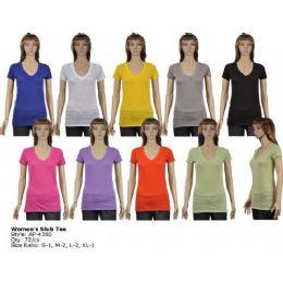 72 Units of Womens Slub Tee - Women's T-Shirts