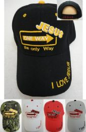 36 Units of Jesus One Way Hat - Baseball Caps & Snap Backs