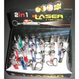 72 Units of Laser Pointer And Flashlight Key Chain - Flash Lights