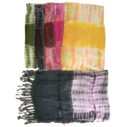 60 Units of Light Scarf tie dye - Womens Fashion Scarves