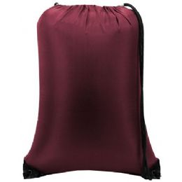 """60 Units of Value Drawstring Backpack - Maroon - Backpacks 15"""" or Less"""